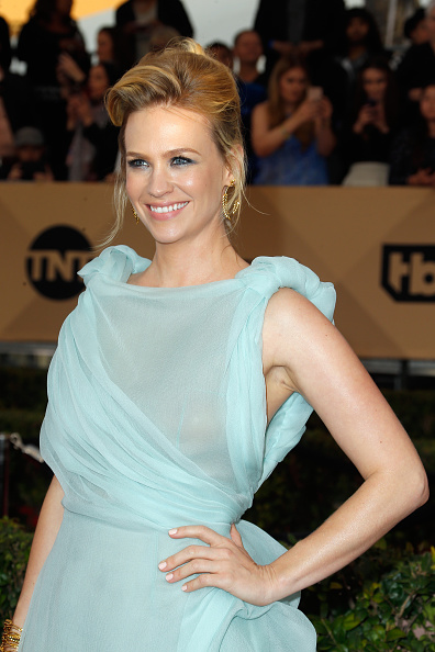 Get the Look: January Jones's SAG Awards Makeup